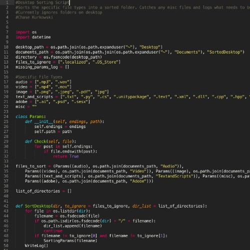Python Desktop Sorter
