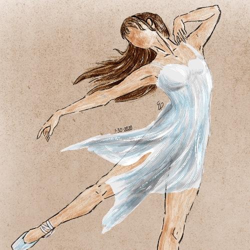 Textured Ballerina