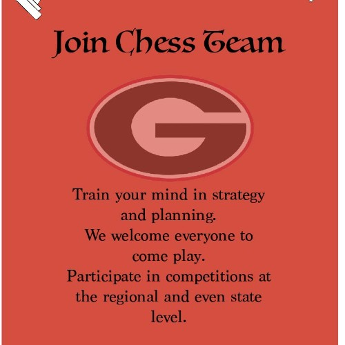 Chess Team Poster Design
