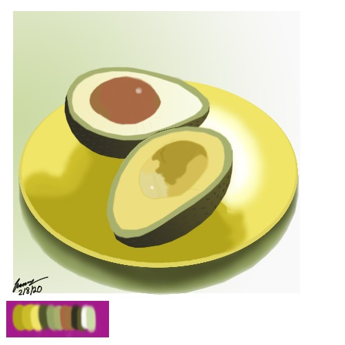 Avocados- A Digital Painting