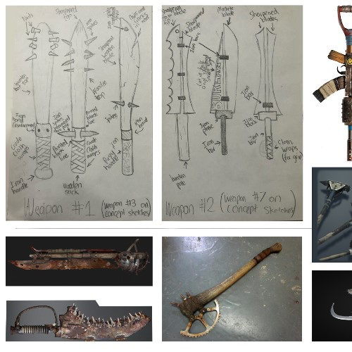 Moodboard- Post Apocalyptic Weapons